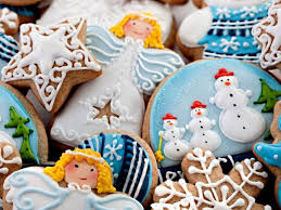 cookies christmas year snowman santa lovely wallpaper