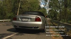 maserati spyder 2003 maserati spyder 4 2l fabspeed maxflo performance package install