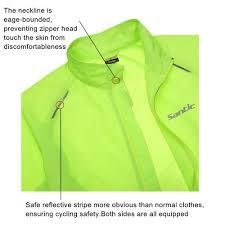 fluorescent cycling jacket santic men raincoat windproof sun protection fluorescent green