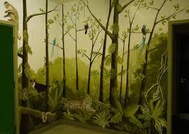 beautiful jungle tree nursery wall murals art for kids bedroom