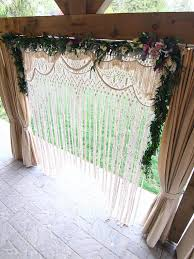 wedding backdrop rentals lydia bohemian macrame wedding arch wedding backdrop