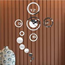 modern 3d mirror wall clock sticker decal removable diy wall modern 3d mirror wall clock sticker decal removable diy wall watches silver black for home decoration designer clocks online designer wall clock from ybf662