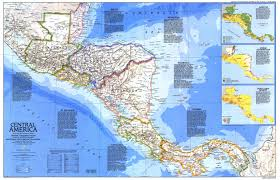 World Map Central America by 1986 Central America Map Historical Maps
