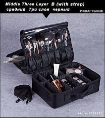 professional makeup storage hot professional makeup organizer bolso mujer cosmetic travel