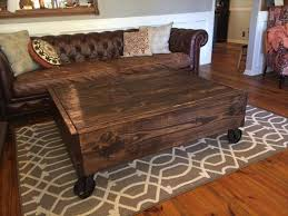 Rustic Industrial Coffee Table Diy Rustic Pallet Industrial Coffee Table Pallet Furniture Plans