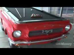 Mustang Pool Table The Making Of A Car Pool Table Cnn Money U0027s