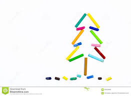 christmas tree made of crayons stock photo image 59925699