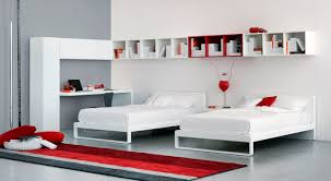 White Leather Single Bed Single Bed Contemporary Lacquered Wood Leather Martin By