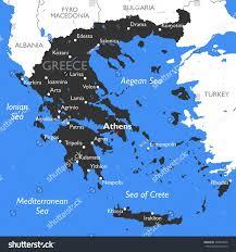 World Map Greece by Greece Map Stock Illustration 509843878 Shutterstock