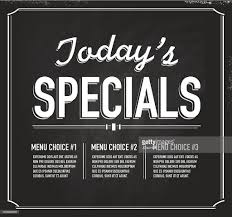 chalkboard style text template todays special design vector art