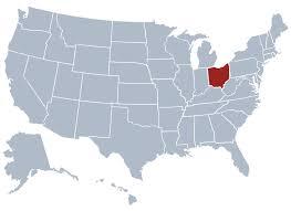 map usa ohio cleveland ohio on us map
