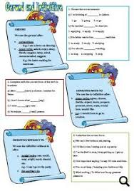 and infinitive worksheet