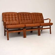 Old Fashioned Leather Sofa Danish Retro Leather Bentwood Sofa Vintage 1970s At 1stdibs