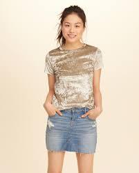 Hollister Clothes For Girls Hollister Velvet Baby T Shirt In Natural Lyst
