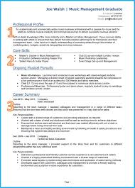 Music Resume Template Example Of A Good Cv