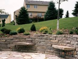 Patio Retaining Wall Pictures Large Stone Retaining Wall With Patio And Sitting Stones Oasis