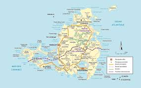 Map Of The Carribean Map Of St Martin Island In The Caribbean You Can See A Map Of