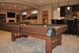 barnwood dining room pool tables