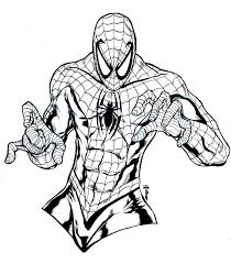 spiderman coloring pages simple spiderman coloring pages for kids