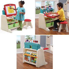 step2 flip and doodle easel desk kids accessories art table with stool and two easels for kids with