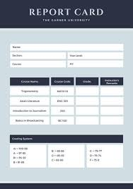 report card template customize 40 college report card templates canva