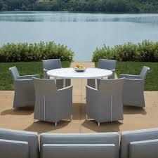 Textilene Patio Furniture by Lloyd Flanders South Beach Textilene Wedge Sectional 248057