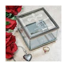 communion jewelry box engraved communion jewelry box personalized religious cross
