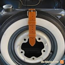 volkswagen beetle 1960 durastrap leather rally vw tire strap for beetle and ghia up to 1960