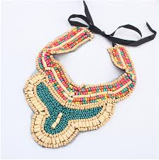 collar bib necklace images Wood beaded necklace fabric collar necklace crochet collar jpg