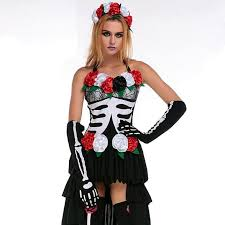 Womens Skeleton Halloween Costume Halloween Corpse Bride Costumes Women Cosplay Skull Skeleton