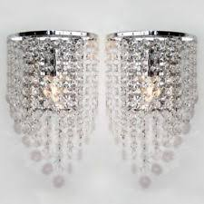 Chandeliers With Shades And Crystals by Pair Of Ikea Rimfrost Chandelier Light Table Lamp Shade Crystal