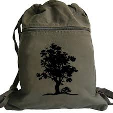 tree of backpack canvas drawstring book bag thebaghabit