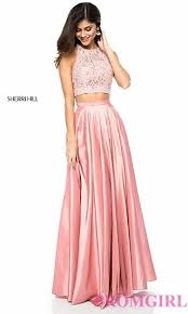 pink dresses sherri hill two cut out prom dress promgirl