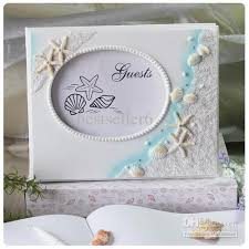 themed guest book 2018 themed starfish seashell wedding guest book resin