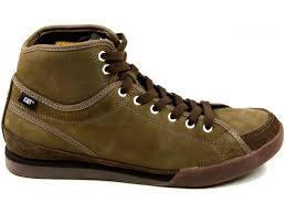 mens caterpillar cat jed mid leather lace hi top trainers boots