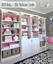 Bookcase Filing Cabinet Combo Besta Billy U0026 Brass Bookcases Centsational Style