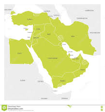 Maps Of Middle East by Map Of Middle East Region Stock Vector Image 79504500