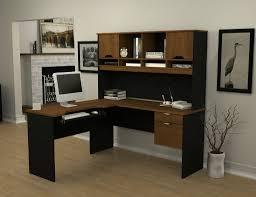 modern black computer desk l shaped computer desk with hutch design thedigitalhandshake furniture