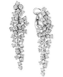 diamond chandelier earrings classique by effy diamond cluster chandelier earrings 2 5 8 ct