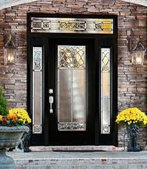 full glass entry door elaborate door glass with black chrome detail is beautiful on this
