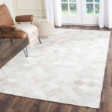 Cowhide Leather Rug Rug Stl311a Studio Leather Area Rugs By Safavieh