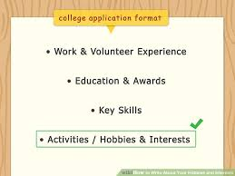 Interests To Put On A Resume Examples 3 Ways To Write About Your Hobbies And Interests Wikihow