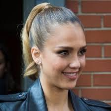 alba earrings alba ponytail hairstyles 1