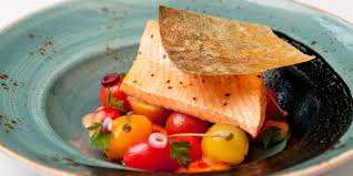 poached salmon recipe great british chefs