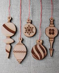 wooden christmas ornaments wood ornaments variety pack by substudio on etsy pathway to