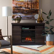 chimneyfree sliding barn door media fireplace hayneedle