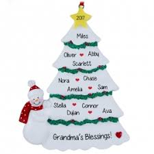 grandparent christmas ornaments s christmas tree with 12 grandkids ornament personalized