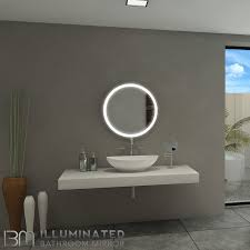 backlit bathroom mirror round 24 x 24 in 6000k inventory sale by