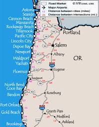oregon map with cities oregon coast maps