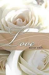 Wedding Bulletin Love Never Ends Rings Wedding Bulletin Pkg Of 50 Cokesbury
